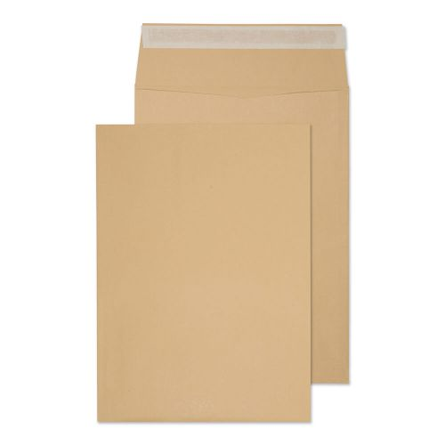 Blake Purely Packaging Pocket Gusset Envelope 406x305x30mm Peel and Seal 25mm Gusset 140gsm Manilla (Pack 125)