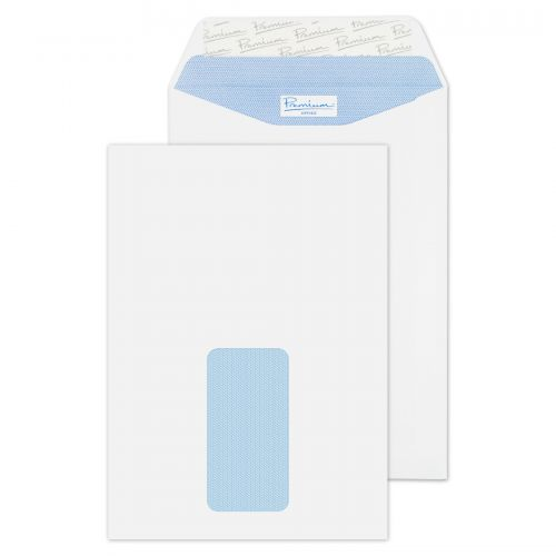 Blake Premium Office Pocket Envelope C5 Peel and Seal Window 120gsm Ultra White Wove (Pack 500)