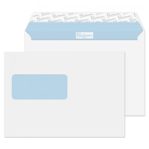 Premium Business Wallet Peel & Seal Window C5 162x229mm Ultra WhitePK500