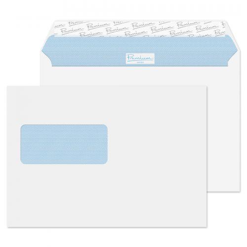 Blake Premium Office Ultra White Wove Window Peel & Seal Wallet 162X229mm 120G Pk500 Code 34217 3P