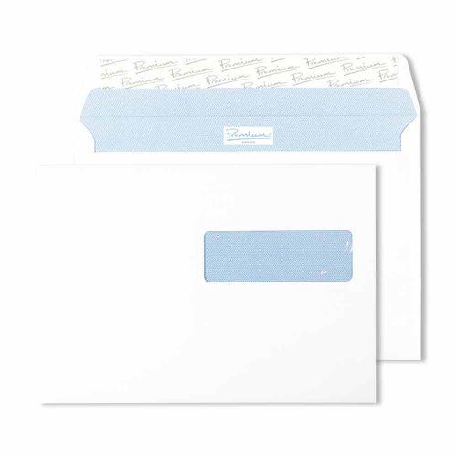 Blake Premium Office Ultra White Wove Window Peel & Seal Wallet 162X229mm 120G Pk500 Code 34276Se 3P
