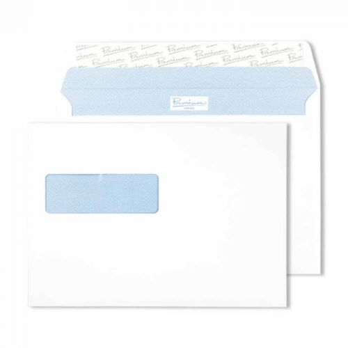 Blake Premium Office Ultra White Wove Window Peel & Seal Wallet 162X229mm 120G Pk500 Code 34286Nr 3P