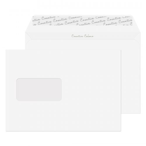 Blake Creative Colour Wallet Peel and Seal Window Ice White C5 162×229mm 120gsm (Pack 500) Code 350W