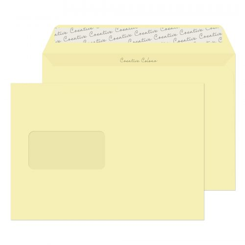 Blake Creative Colour Wallet Peel and Seal Window Clotted Cream C5 162×229 120gsm (Pk 500) Code 353W