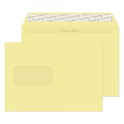 Blake Creative Colour Wallet Peel and Seal Window Vanilla Ice Cream 120gsm C5 (Pack 500) Code 354W