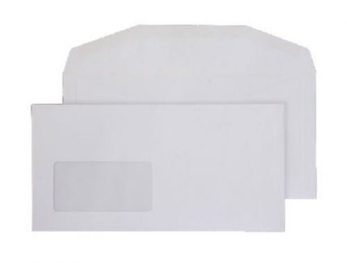 Blake Purely Everyday White Window Gummed Mailer 1 14X229mm 110Gm2 Pack 1000 Code 3604 3P