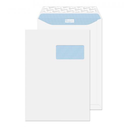 Blake Premium Office Ultra White Wove Window Peel & Seal Pocket 324X229mm 120G Pk250 Code 36136Fr 3P