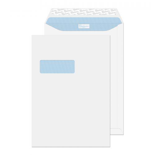 Blake Premium Office Ultra White Wove Window Peel & Seal Pocket 324X229mm 120G Pk250 Code 36186Nr 3P