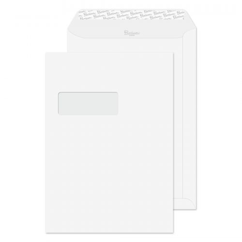 Blake Premium Business Diamond White Smooth Window  P&S Pocket 324X229 120G Pk250 Code 36892 3P