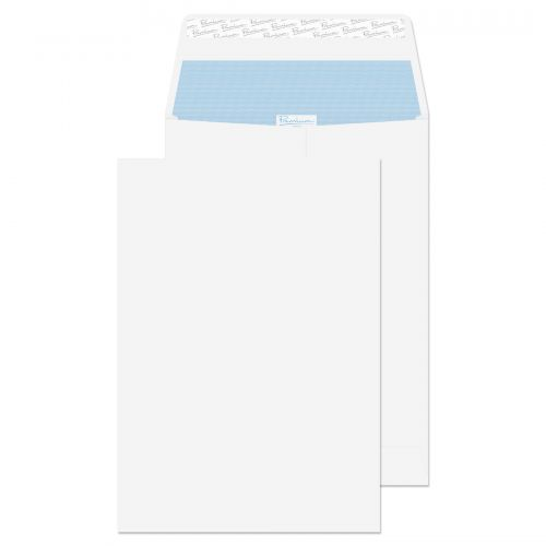 Blake Premium Office Pocket Gusset Envelope C4 Peel and Seal Plain 25mm Gusset 140gsm White Wove (Pack 100)