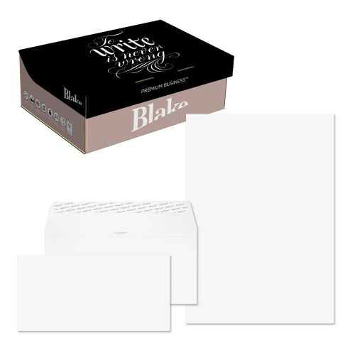 Blake Premium Business Brilliant White Wove Peel & Seal SoHo Box 210x297mm 120gsm Pack 250 Code 37670