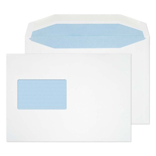 Blake Purely Everyday White Window Gummed Mailer 162X229mm 90Gm2 Pack 500 Code 3855Cbc 3P