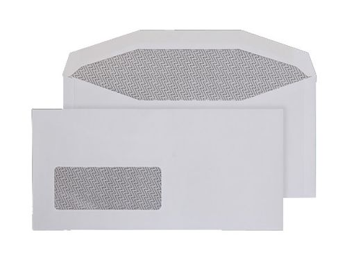Blake Purely Everyday White Window Gummed Mailer 1 14X235mm 90Gm2 Pack 1000 Code 3995Bw 3P