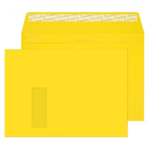Blake Creative Colour Banana Yellow Peel and Seal Wallet Window C4 229x324mm (Pack 250) Code 403W