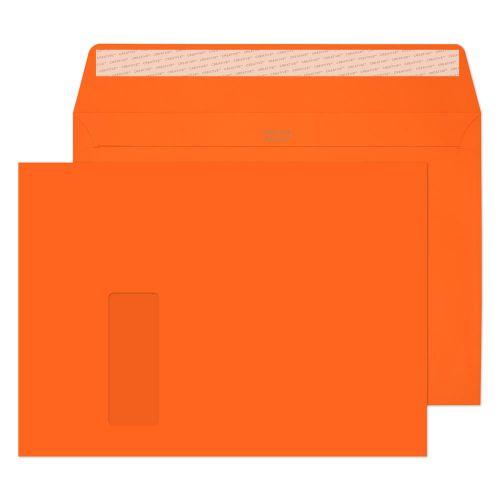 Blake Creative Colour Pumpkin Orange Peel and Seal Wallet Window C4 229x324mm (Pack 250) Code 405W