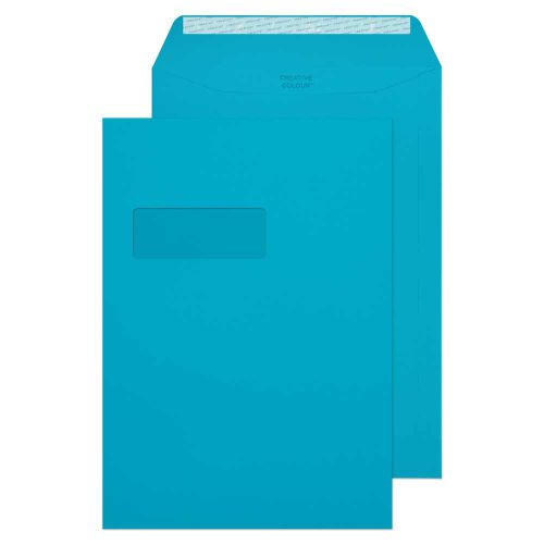 Blake Creative Colour Cocktail Blue Window Peel & Seal Pocket 324x229mm 120gsm Pack 250 Code 409PW