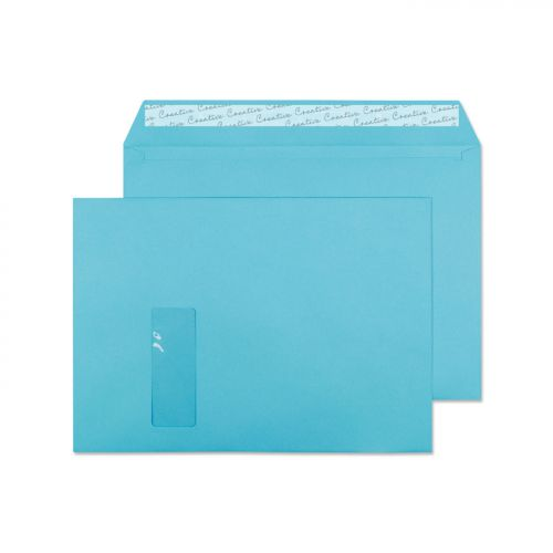 Blake Creative Colour Cocktail Blue Peel and Seal Wallet Window C4 229x324mm (Pack 250) Code 409W