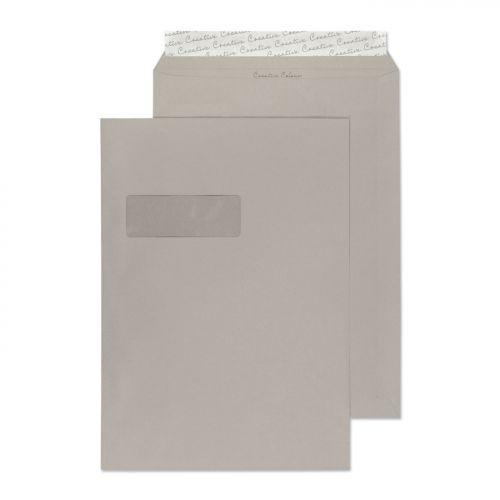 Blake Creative Colour Pocket Peel and Seal Window Storm Grey C4 324×229mm 120gsm (Pk 250) Code 425W