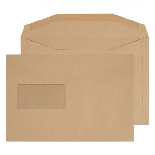 Purely Everyday Mailer Gummed Window Manilla 80gsm C5+ 162x235mm Ref 4406 Pk 500 *10 Day Leadtime*