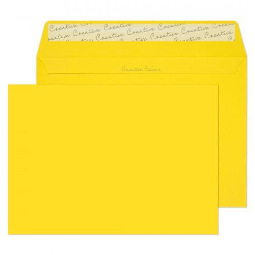 Blake Creative Colour Banana Yellow Peel & Seal Wallet 162x229mm 120gsm Pack 25 Code 45303