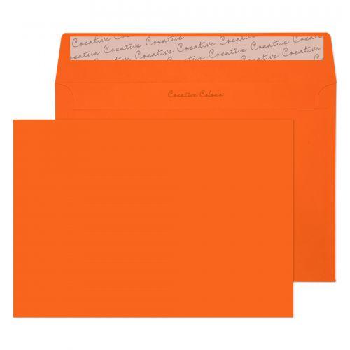 Blake Creative Colour Pumpkin Orange Peel & Seal Wallet 162x229mm 120gsm Pack 25 Code 45305