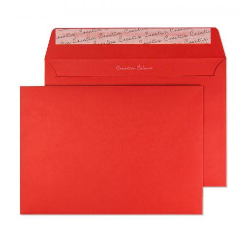 Blake Creative Colour Pillar Box Red Peel & Seal Wallet 162x229mm 120gsm Pack 25 Code 45306