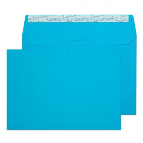 Blake Creative Colour Caribbean Blue Peel & Seal Wallet 162X229mm 120Gm2 Pack 25 Code 45310 3P