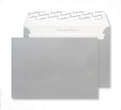 Blake Creative Shine Wallet Envelope C5 Peel and Seal Plain 130gsm Metallic Silver (Pack 25)