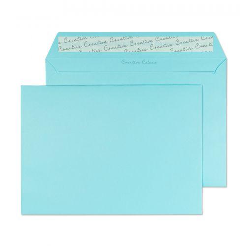 Blake Creative Colour Cotton Blue Peel & Seal Wallet 162X229mm 120Gm2 Pack 25 Code 45318 3P