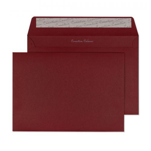 Blake Creative Colour Bordeaux Peel & Seal Wallet 162X229mm 120Gm2 Pack 25 Code 45322 3P