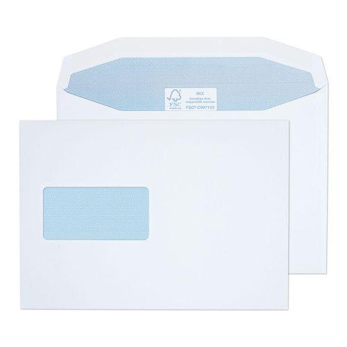 Blake Purely Everyday White Window Gummed Mailer 162x229mm 115gsm Pack 500 Code 4808