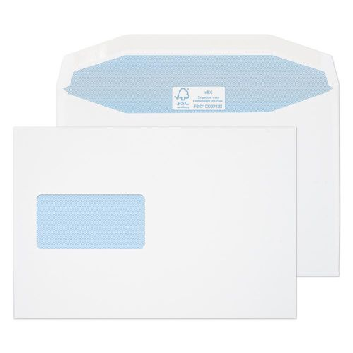 Blake Purely Everyday White Window Gummed Mailer 162x238mm 115gsm Pack 500 Code 4908