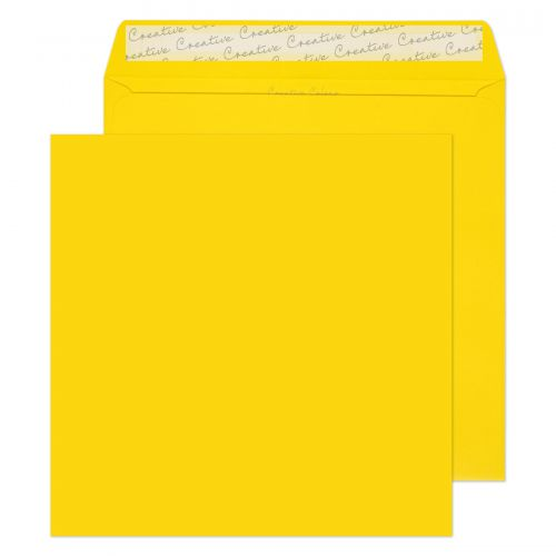 Creative Colour Banana Yellow Peel and Seal Wallet 220x220mm Ref 503 [Pack 250] *10 Day Leadtime*