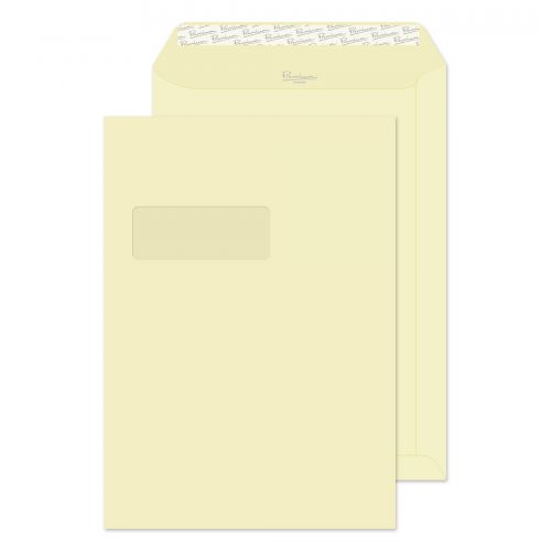 Blake Premium Business Vellum Wove Window Peel & Seal Pocket 324X229mm 120Gm2 Pack 250 Code 51892 3P