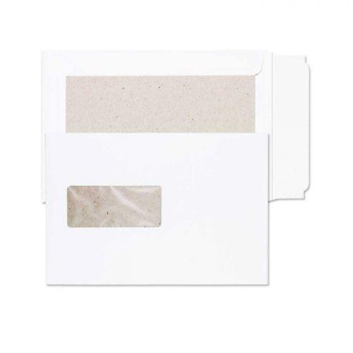Blake Purely Packaging White Window Peel & Seal Board Back Pocket 229X162 120G Pk125 Code 51901W 3P