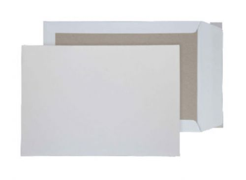 Blake Purely Packaging White Peel & Seal Board Back Pocket 450X324mm 120Gm2 Pack 100 Code 5200 3P