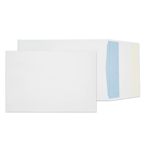 Blake Purely Packaging White Peel & Seal Gusset Po cket 229X162X25mm 120Gm2 Pack 125 Code 6000 3P
