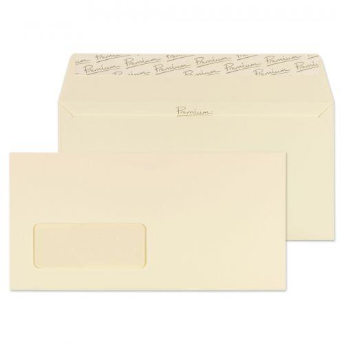 Blake Premium Business Cream Wove Window Peel & Seal Wallet 110X220mm 120Gm2 Pack 25 Code 61264 3P