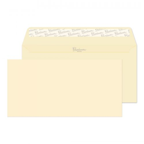 Blake Premium Business Wallet Envelope DL Peel and Seal Plain 120gsm Cream Wove (Pack 500)