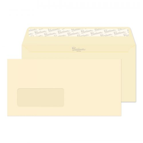 Blake Premium Business Cream Wove Window Peel & Se al Wallet 110X220mm 120Gm2 Pack 500 Code 61884 3P