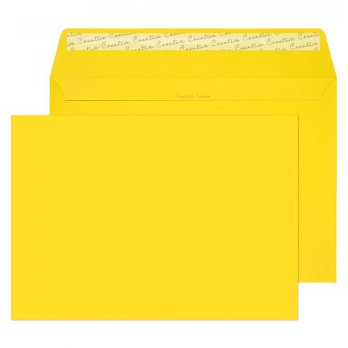 Blake Creative Colour Banana Yellow Peel & Seal Wallet 229X324mm 120Gm2 Pack 10 Code 63403 3P