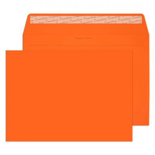 Blake Creative Colour Pumpkin Orange Peel & Seal Wallet 229X324mm 120Gm2 Pack 10 Code 63405 3P