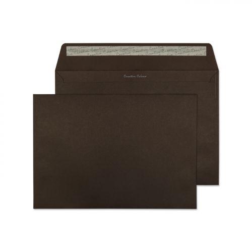 Blake Creative Colour Bitter Chocolate Peel & Seal Wallet 229X324mm 120Gm2 Pack 10 Code 63426 3P