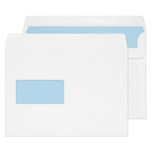 Blake Purely Everyday White Window Self Seal Wallet 162X229mm 100Gm2 Pack 500 Code 6655Fu 3P