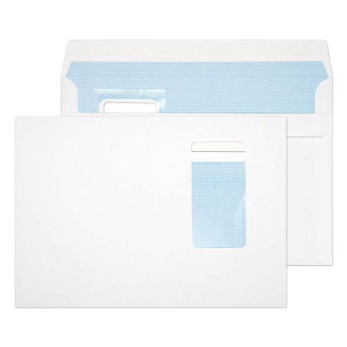 Everyday White Window Self Seal Wallet C5 162x229 100gsm (PK500)