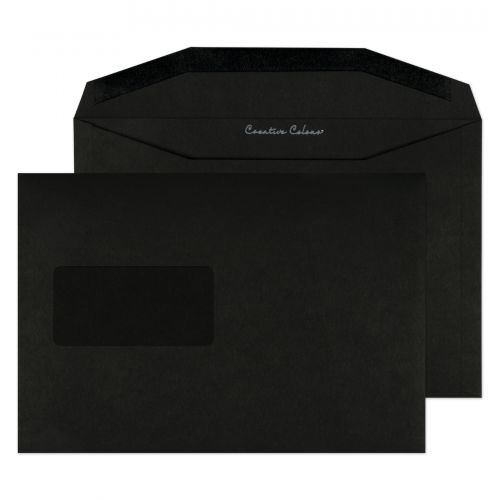 Blake Creative Colour Jet Black Window Gummed Wall et 162X235mm 120Gm2 Pack 500 Code 814Mw 3P