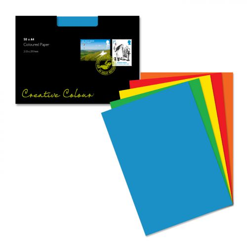 Blake Creative Colour Assorted Paper A4 297x210mm 120gsm (Pack 50) Code 86123