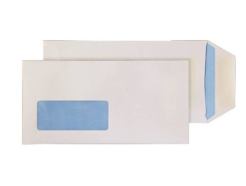Blake Purely Everyday White Window Self Seal Pocket 220X110mm 90Gm2 Pack 1000 Code 86788W 3P