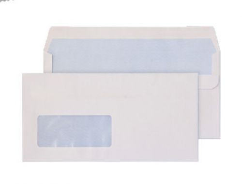 Purely Everyday Wallet Self Seal Low Window White 110gsm 110x220 Ref 8884 Pk 500 *10 Day Leadtime*