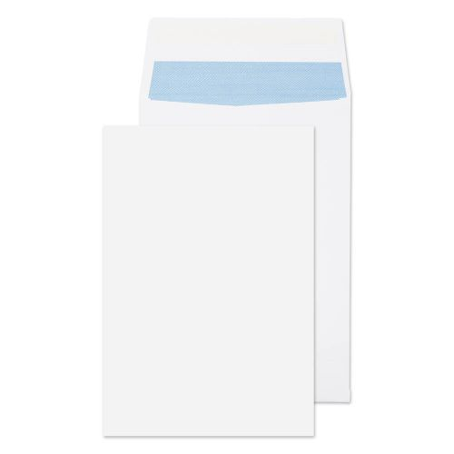 ValueX Pocket Gusset Envelope C4 Peel and Seal Plain 25mm Gusset 140gsm White (Pack 125)